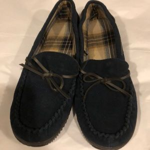Slippers mens size 11-12M new navy leather George